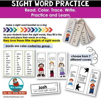 Sight Words - 100 First Words for Beginning Readers - PreK-Grade 1
