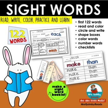 Sight Words   122 Words for Beginning Readers   (Learning to Read)