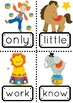 Sight Words 101-200 with a Circus Theme