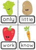 Sight Words 101-200 with a Vegetable Theme