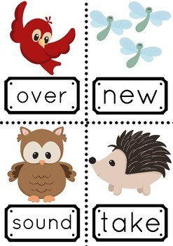 Sight Words 101-200 with a Woodlands Theme
