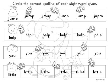 Sight Words Worksheets