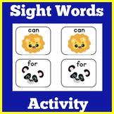 Sight Word Game for Kindergarten