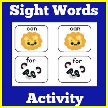 Sight Word Activities | Sight Word Centers | Kindergarten