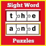 Sight Word Puzzles | Preschool Kindergarten 1st Grade | Si