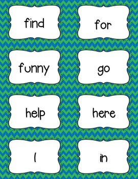 Sight Words Flash Cards and Memory Game Bundle