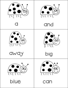 """Sight Words Flash Cards and """"Go Fish"""" Game"""