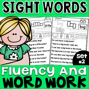 Sight Words Fluency and Word Work Set 2