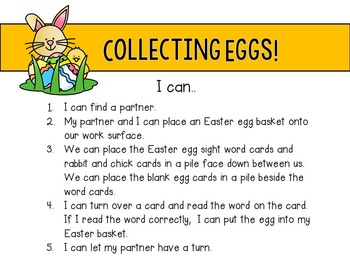 Sight Words / Word Work / Sight Word Games / Easter / April