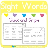 Sight Words Trace and Color      MMHS42