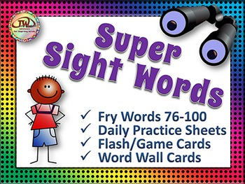 Sight Words - Word Wall Words and Worksheets - Fry Words Vol 4