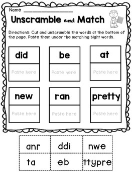 Free Dolch Sight Words