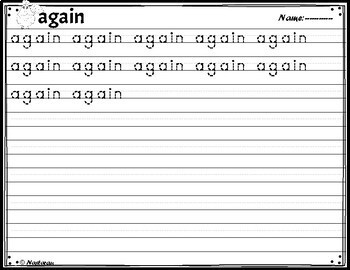 Sight Words 1st Grade {Word Wall Cards , Alphabet Cards, Practice Pages}