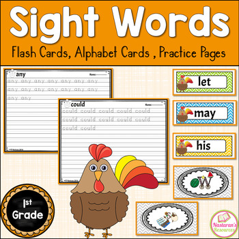 Sight Words 1st Grade {Word Wall Cards , Alphabet Cards, P