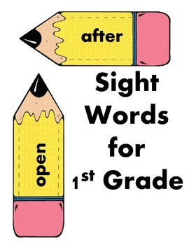 Sight Words (1st Grade) with Pencil Design