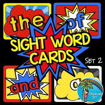Superhero Sight Words 2