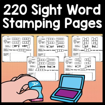 Sight Word Stamping {220 Sight Word Activities Pages!}
