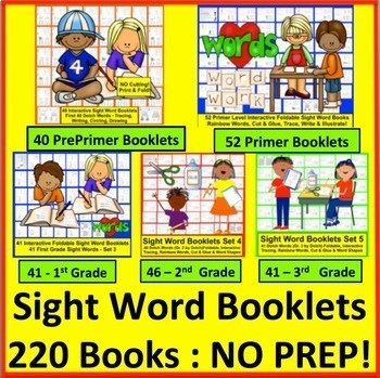 Sight Words Booklets VALUE Bundle - All 220 Dolch Sight Words!