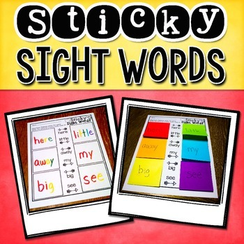 Sight Word Practice with Sticky Notes