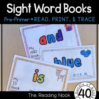 Sight Words - Pre-Primer Interactive Books
