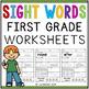 Kindergarten Sight Words Activity Worksheets (Pre-Primer And Primer)