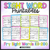 Sight Word Activities, Sight Word Practice