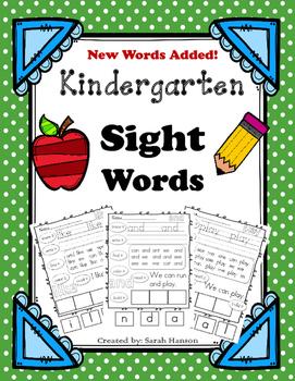 Kindergarten Sight Words *** New Words Added ***