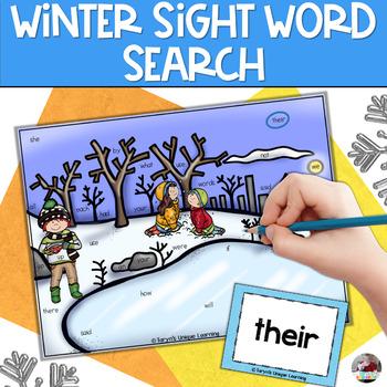 Winter Sight Word Find It