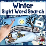 Winter Sight Word Find It