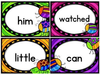 Sight Words Cards (Bug Theme)