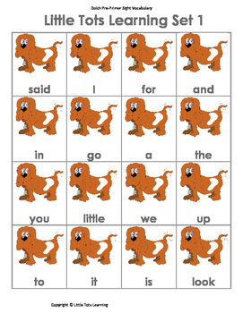Sight Word Games | Dolch Pre-Primer Sight Words and Sentences