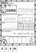 Pre Primer Sight Words Printables in Queensland Beginners Font