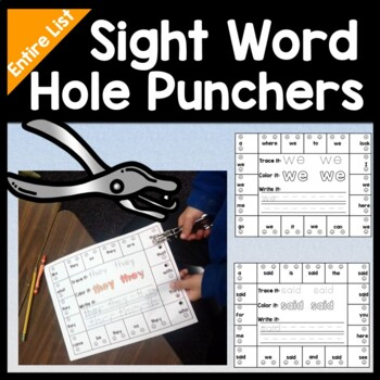 Sight Word Centers with Hole Punchers {220 Words!}
