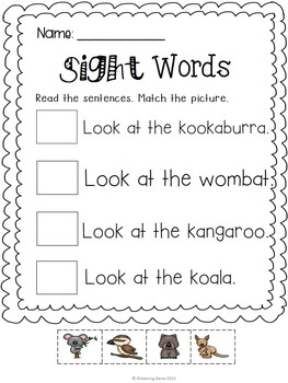 Sight Word Activities - Cut & Paste - NO PREP