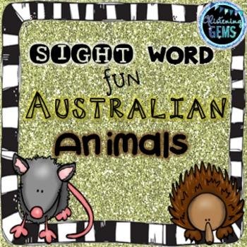 Australian Animals - Sight Word Activities - NO PREP