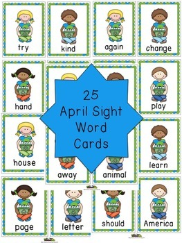Sight Words with Earth Day Cards