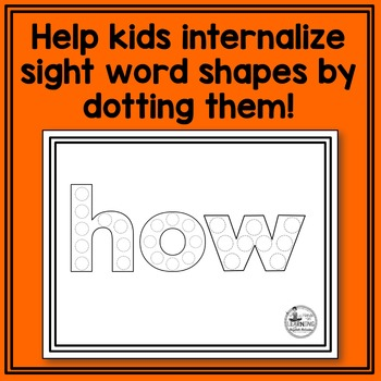 Fry's 1st 50 Sight Word Dot Painting