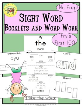 Sight Words Interactive Books and Word Work Fry's First Hundred