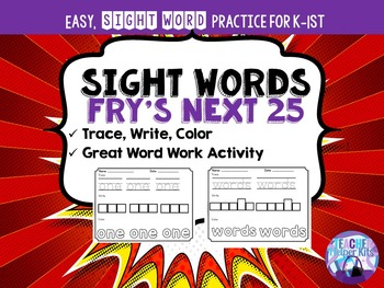 Sight Words-Fry's Next 25 Worksheets