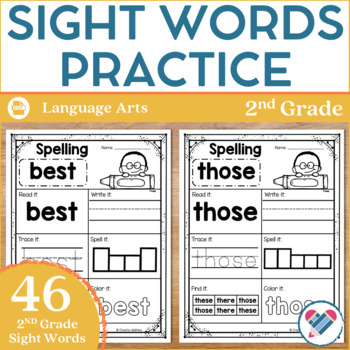 Sight Words Practice 2nd Grade