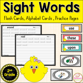 Sight Word Wall Cards 2nd Grade {Alphabet Cards, Practice Pages}
