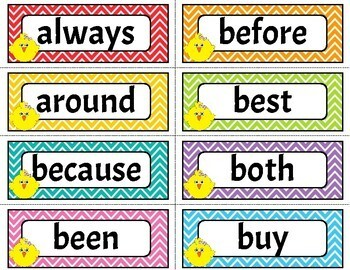 Sight Word Flash Cards 2nd Grade