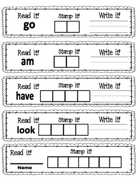 Read It, Write It, Stamp It Sight Words 3