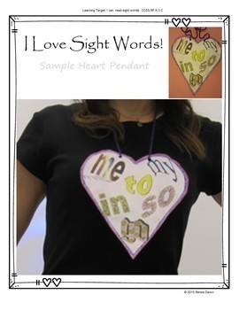 Sight Words Bundle -  Sight Words Crafts, MP3 Songs, Word Work