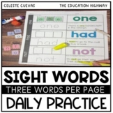 Sight Words Daily Review