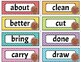 Sight Word Wall Cards 3rd Grade { Alphabet Cards, Practice Pages}