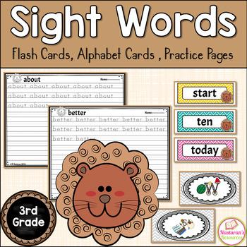 Sight Word Flash Cards 3rd Grade