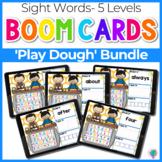 Sight Words 5 Levels Play Dough Theme | Boom Cards™ Digita