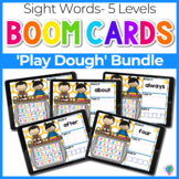 Sight Words 5 Levels Play Dough Theme | Boom Cards™ Digita