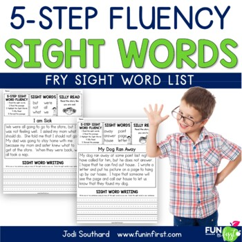Sight Words - 5-Step Fluency (Fry List)
